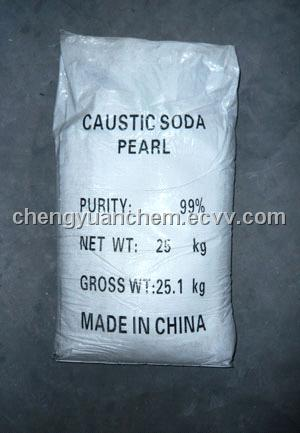 99%Caustic soda pearl   Caustic soda beads  in china