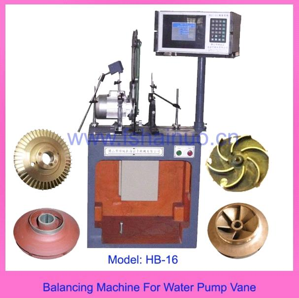 Balance Machine for Water Pump Impellers