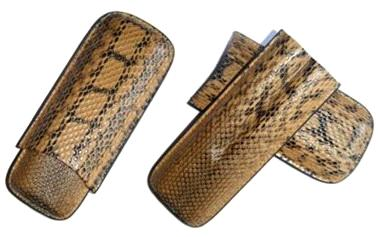 2ct Snake Leather Cigar Case