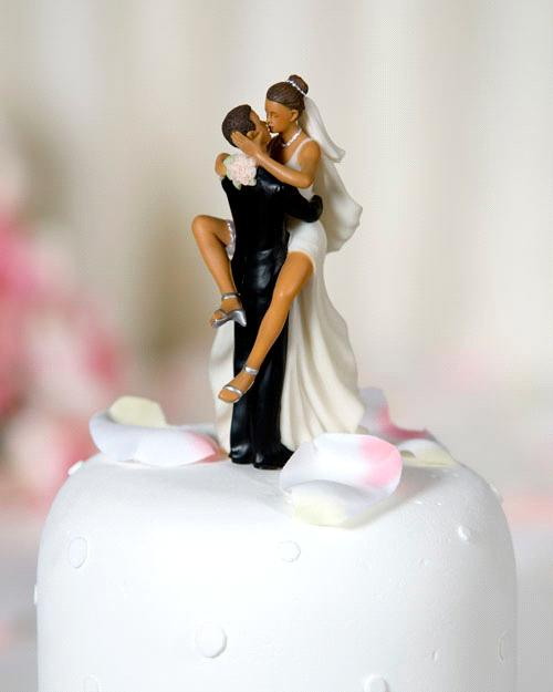 "Funny Wedding Cake Toppers African American: ""Funny Sexy"" African American Wedding Bride And Groom Cake"