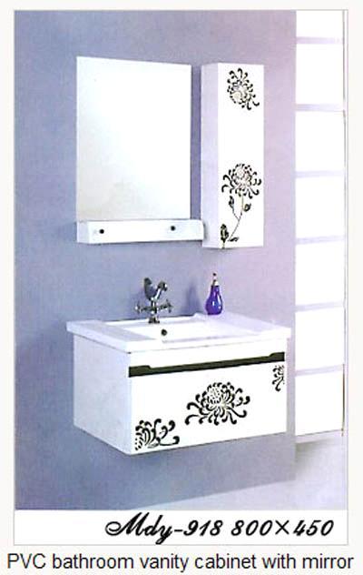 Pvc Bathroom Vanity Cabinet With Mirror