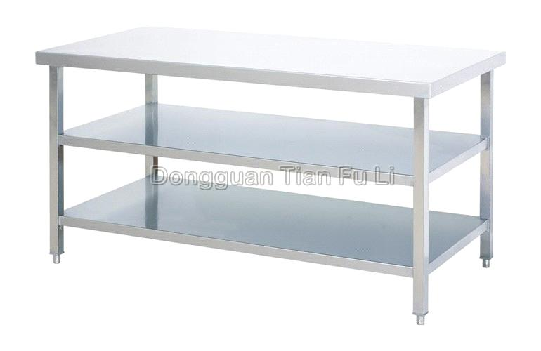 three layer stainless steel workbench - Stainless Steel Work Bench