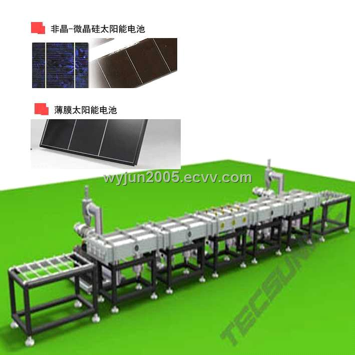 Manufacturing Line for a-s Silicon PV Solar Cell