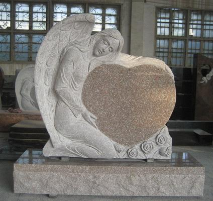 colors for monuments traditional single angel heart monuments with various color