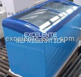Chest Bunker Glass Top Freezer