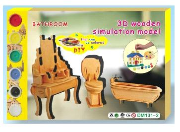 3D Wooden Simulation Model Toys