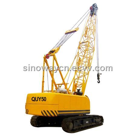 Crawler Crane with 50 Ton Lifting Capacity - Hydraulic Lift (QUY50)