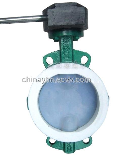 PTFE Lining Butterfly Valve (DN200F46)