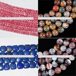 Various Gemstone Loose Beads Rhodochrosite
