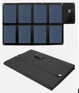 24W/18V Amorphous Thin Film Foldable Solar Panel in Black