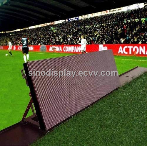 Football Sport Perimeter Outdoor LED Display Screen Sign, Outdoor LED Display Advertising Billboard