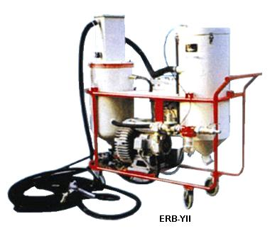 Vacuum closed circuite pressure blast machine