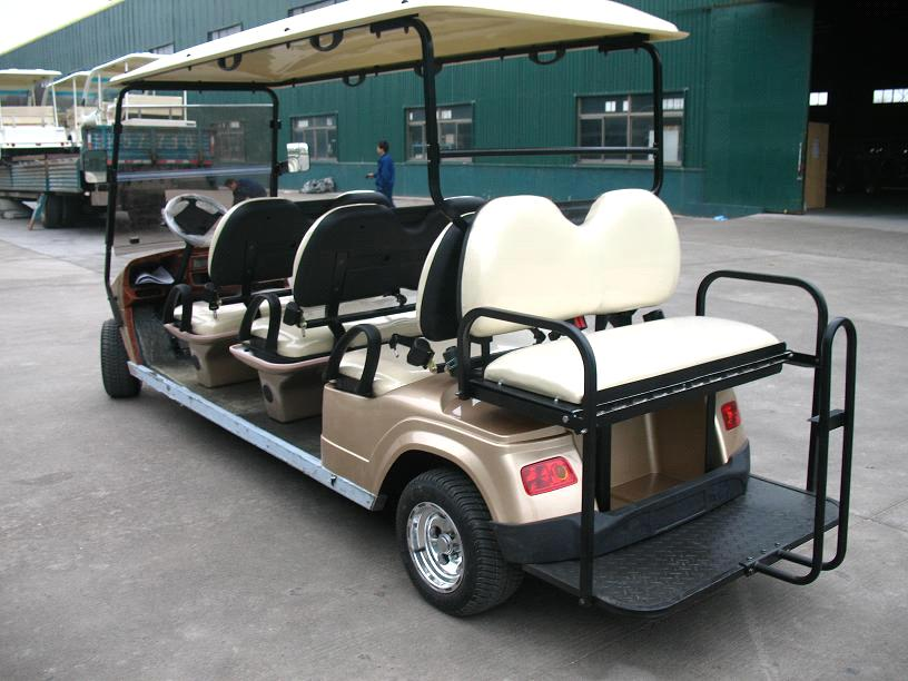 Electric Golf Car With 8 Pengers