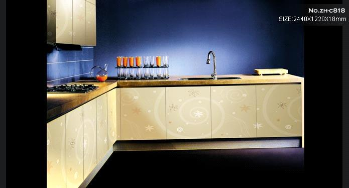 Kitchen Cabinet Door from UV Color Panel (Wardrobe Door,Kinds of Cabinet Door,Furniture,Decoration)