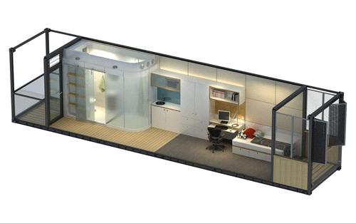 Container House Bathroom Pod Prefabricated House From