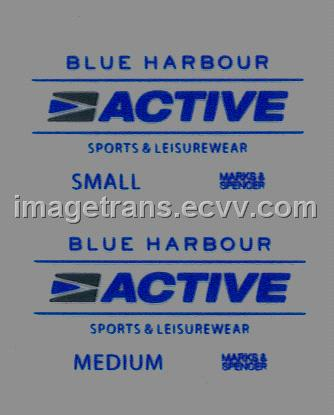Tagless Garment Label Iron-On Heat Transfer Sticker for
