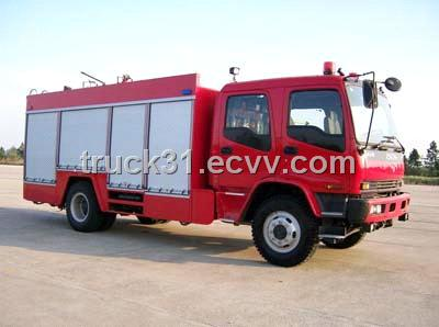 Isuzu Single Axle Water Tank Fire Truck