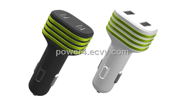 Dual USB Mini Car Charger for iPad, iPhone 4