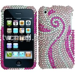 iPhone 4G Diamond Hard Cover (Heart Linked to Heart)
