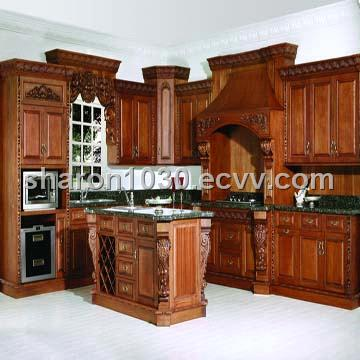 Classic Firm Wooden Kitchen Cabinet