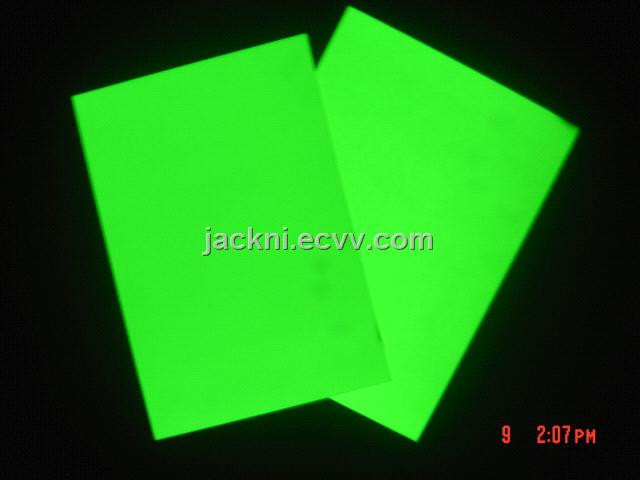 Photoluminescent PVC Rigid Sheet