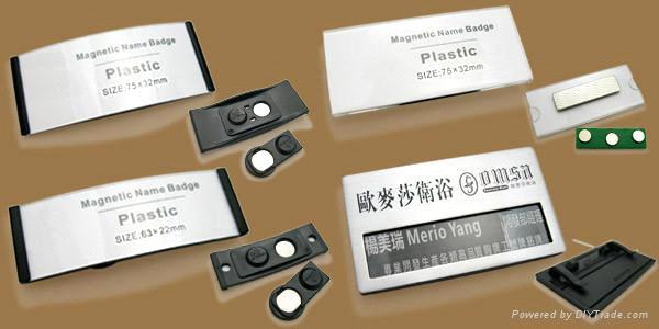 Magnetic Business Card Badge Holder