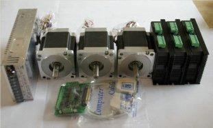 3 pcs 3 Axis Nema34 Stepper Motor Kits
