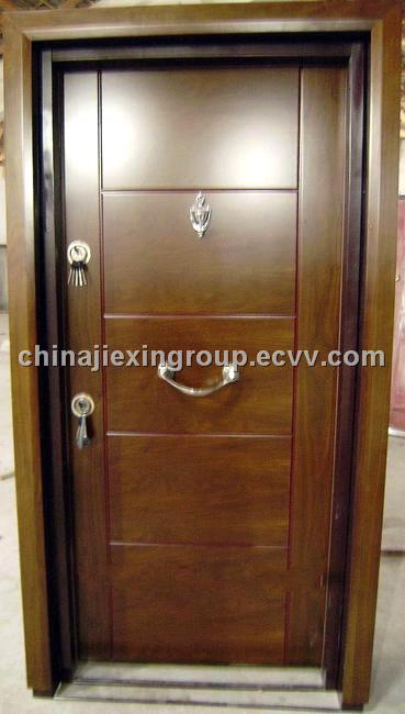 Adjustale Frame Steel Wooden Armored Security Door Ta312
