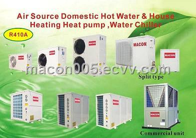 Air Source House Heating Heat Pump / Water Chiller