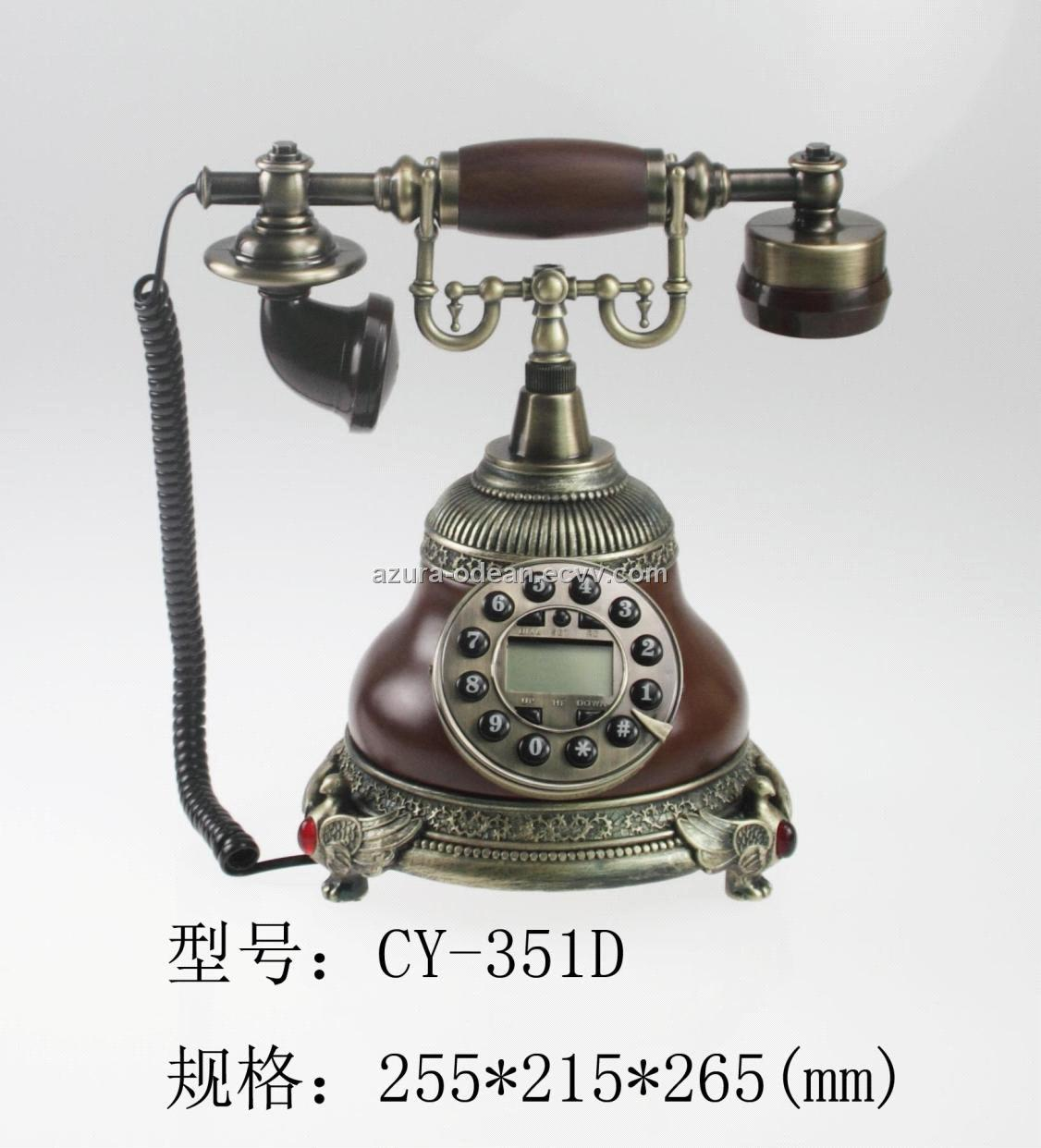 Antique Classical Telephone For Hotel Office Supply Home Decoration
