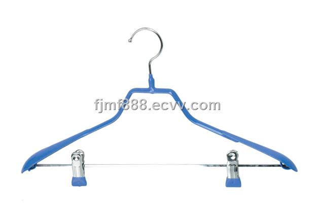 Pvc Coated Wire Hanger With Two Clip Purchasing Souring Agent