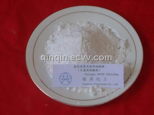 Transparent Barium sulfate for chromatic printing ink