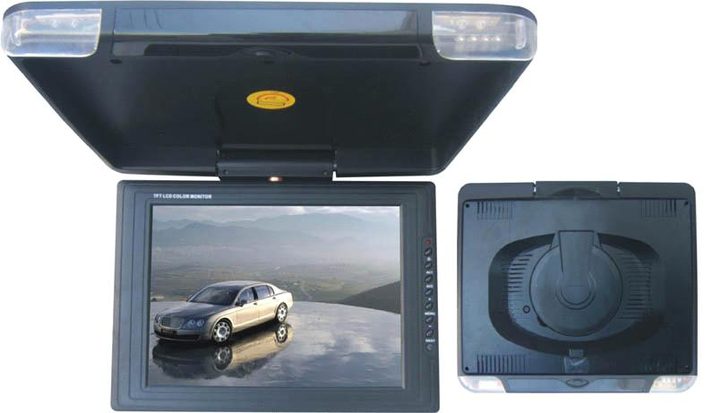 12.1 inches roof mount LCD car monitor with DVD player  / flip down car DVD player