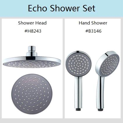 Echo Shower Head Set Plastic