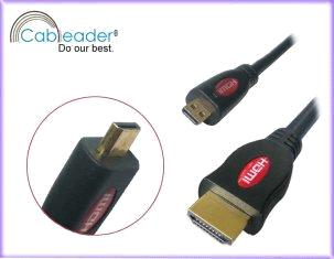 Micro HDMI Cable for Mobile,digital cameral,HDMI A to D,suport 3D,1080p