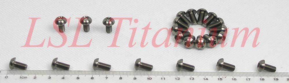 Titanium bolts - low profile head
