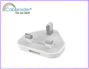 USB Charger with 3 pin uk plugs for iPhone 4G