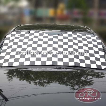 black white box Car sun visor