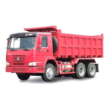 howo 6*4red 290hp dump truck