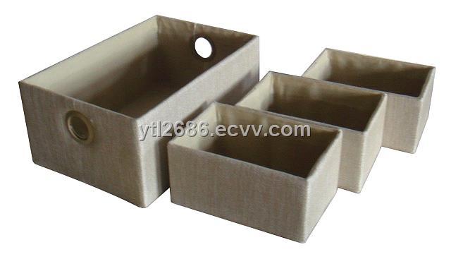 Merveilleux Polyester Linen Handmade Storage Box