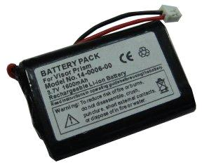 1600 mAh 3.7V PDA cell phone replacement batteries for Palm Visor Prism series