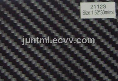 21123 black big texture 3D carbon fiber vinyl film