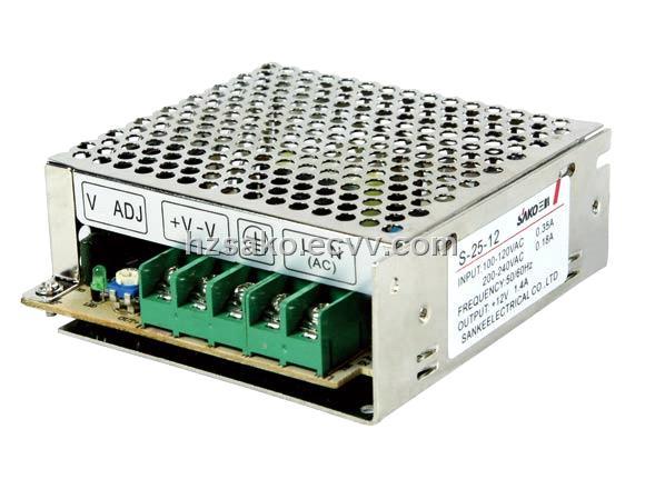 25W 5V 5A ,12V 2 1A ,15V 1 7A, 24V 1 1A Switching Power Supply (S-25 series)