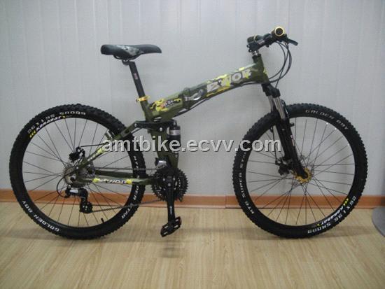 4cc07b2339b Full suspension folding mountain bike foldable MTB bicycle from ...