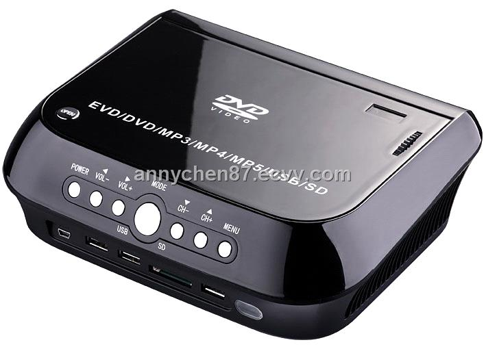 HD Home theater protable DVD projector with VGA,TV,USB,GAME IN&OUT