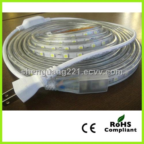 High voltage LED flexible strip light SMD 5050/60leds 230V/IP65