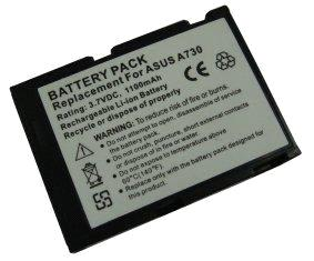 Replacement hi capacity Li-ion PDA mobile battery 3.7v 1250 mAh for Asus A730