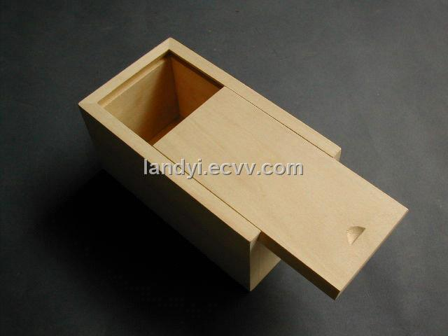 Wooden Sliding Lid Box