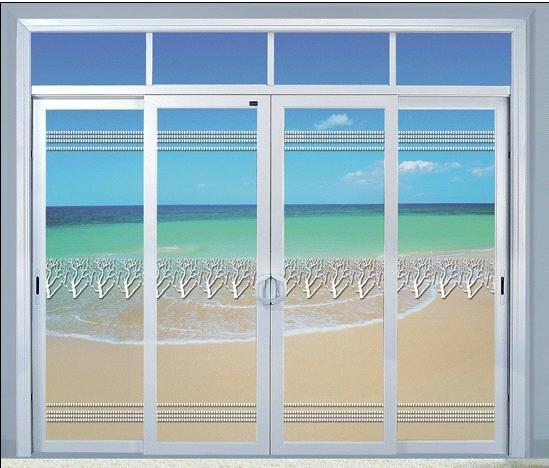 Aluminum Sliding Door With Double Sided Glass With 5mm Thickness