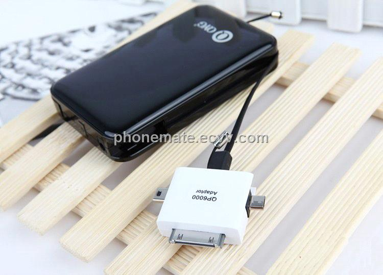 super large capacity 6000mAh usb external power pack for mobile phones